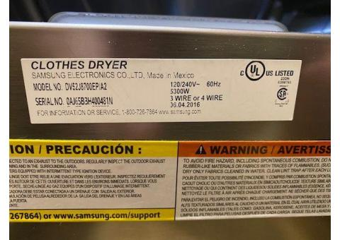 Washing Machine  Dryer Steam Front Load